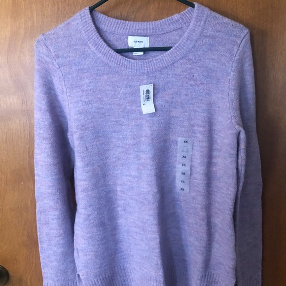 Old Navy Cozy Crew Neck Sweater for Women Lilac XS